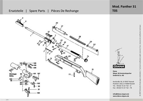 Spare Part Panther spare parts for diana mod panther 31 t05 spare parts for firearms beretta benelli and diana