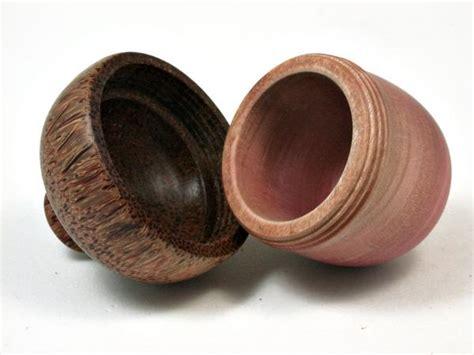 lv  pink ivory red palm wooden acorn trinket box