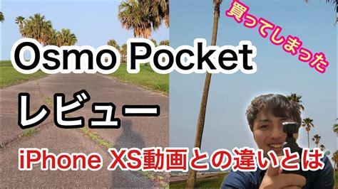 必見 osmo pocketをレビュー iphone xsとの映像の違いとは