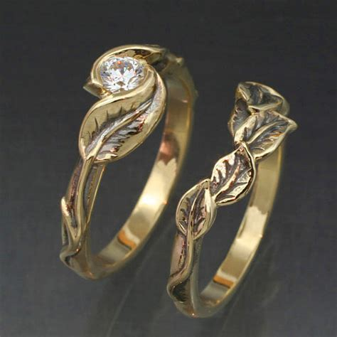 leaf and twig design ring sets the hermetic library