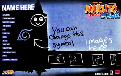 character biography generator naruto character bio template for several villages by