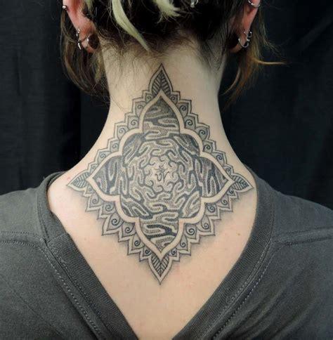 cross tattoo nape of neck 16 elegant and bold nape tattoos tattoodo