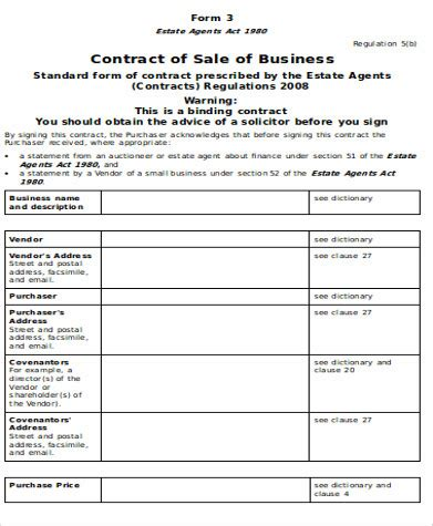 9 Sle Sale Of Business Agreements Sle Templates Small Business Sale Agreement Template