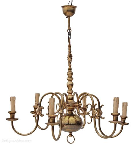 Flemish Brass Chandelier Antiques Atlas Flemish 6 Lamp Ormolu Brass Bronze Chandelier