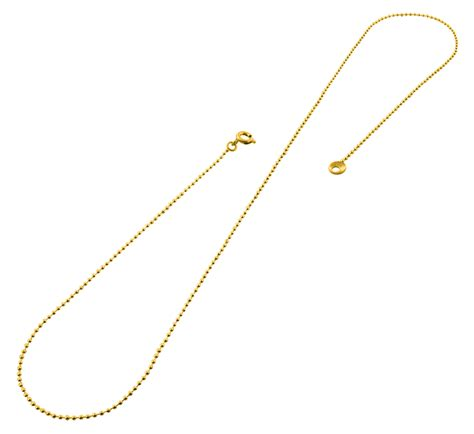 gold plated bead necklace gold plated 20 quot bead chain necklace 1 20mm