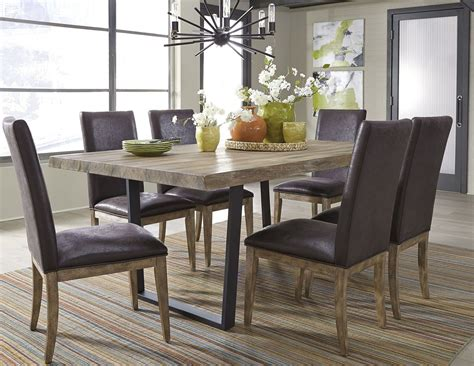 haley springs gray trestle dining room set from liberty