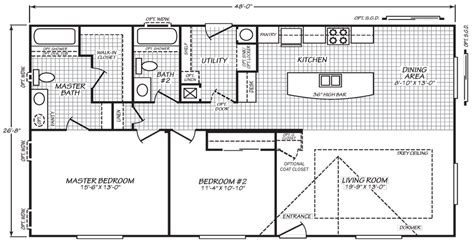 wellington 40483a manufactured home floor plan or modular floor plans wellington 28 x 48 1279 sqft mobile home factory expo
