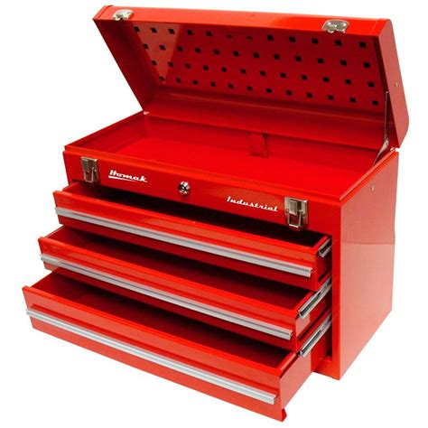 Toolbox Drawer by Homak Industrial 20 In 3 Drawer Friction Toolbox In Brown Wrinkle Bw00203200 The Home Depot