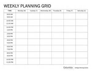 Schedule Grid Template by Pin Blank Class Schedule Grid On