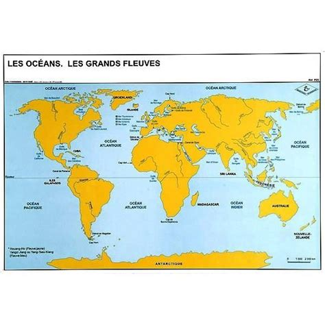 Geos Mere Et Moi Blue Map carte oc 201 ans et grands fleuves du monde achat vente