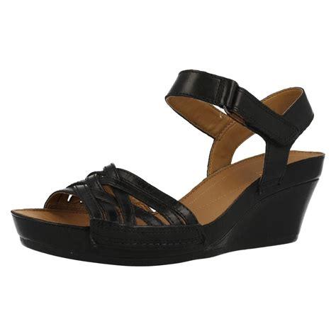 Sandal Wedges Ls08 Hitam 59 clarks wedged sandals wish ebay