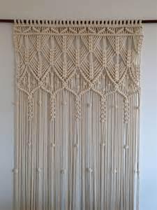 macrame curtain handmade macrame wall hanging ecru