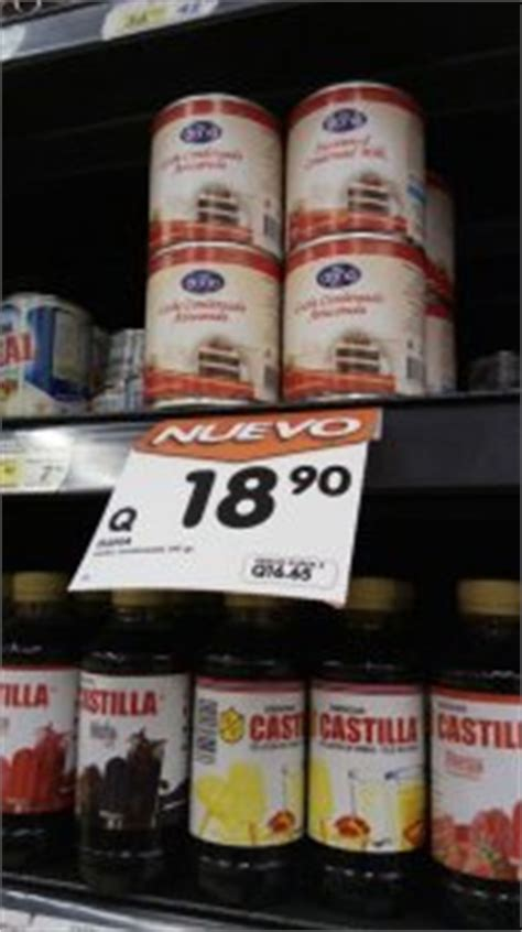 Shelf Of Condensed Milk by Torres Supermarkets In Guatemala Now Offer Condensed