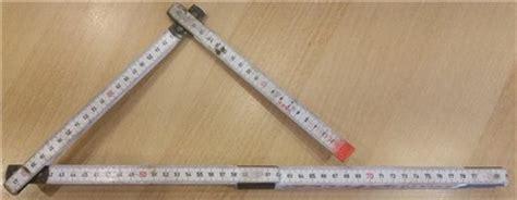 45 grad winkel ein einfacher zollstock als winkelmesser heimwerkerkniffe de