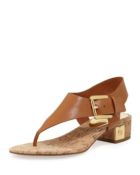 michael kors sandal michael michael kors sandal in gold luggage