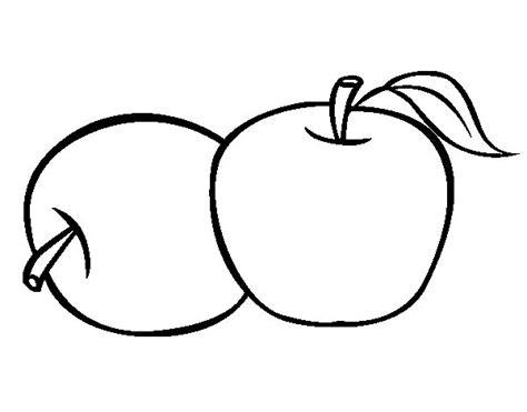 imagenes para colorear manzana dibujo de dos manzanas para colorear dibujos net