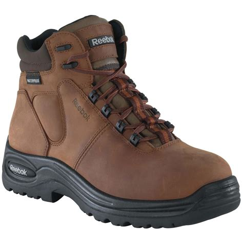 s 6 quot reebok 174 composite safety toe sport boots brown