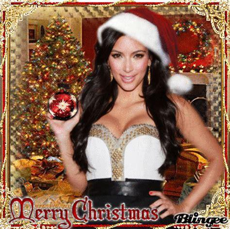 merry christmas kim kardashian picture  blingeecom