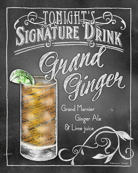 signature drink signs chalkboard style from rockinchalk
