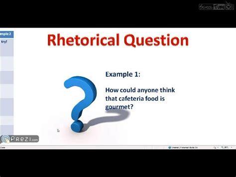 exle of rhetoric rhetorical question exles www pixshark images