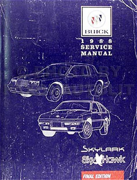 1988 buick skylark skyhawk repair shop manual original