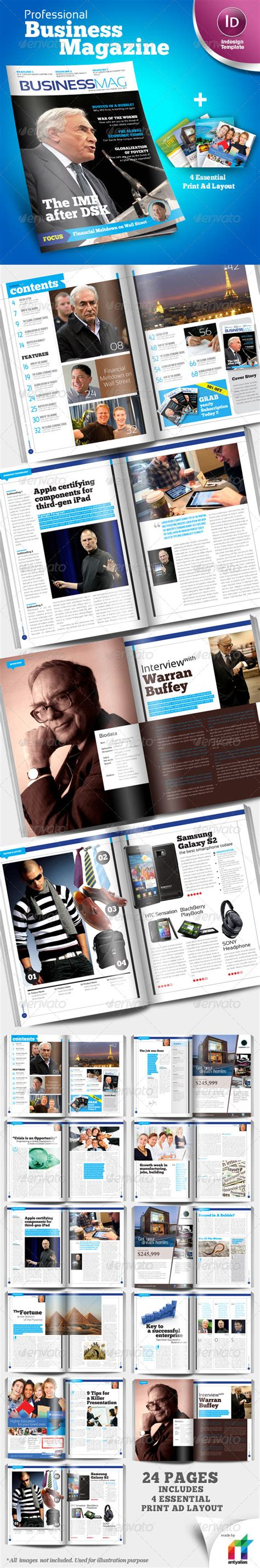 magazine layout template graphicriver free download professional business magazine indesign