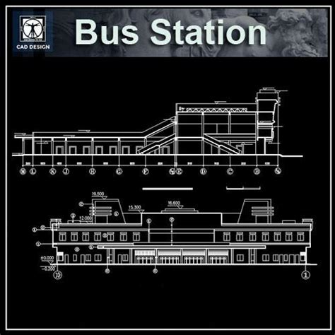 Railway Station Cad Drawings