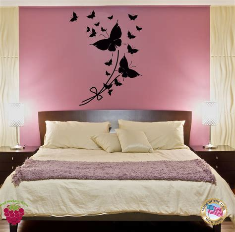 wall sticker butterfly cool modern decor  bedroom