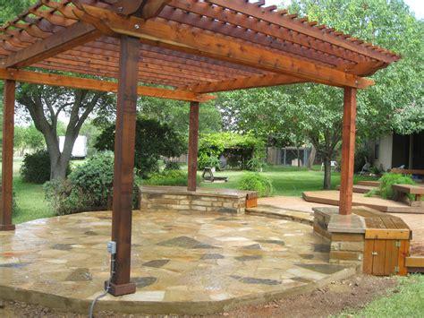 Oklahoma Flagstone Patio constructed by OL' Yeller