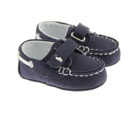 baby boy boat shoes ralph baby boys navy sander canvas boat shoe all