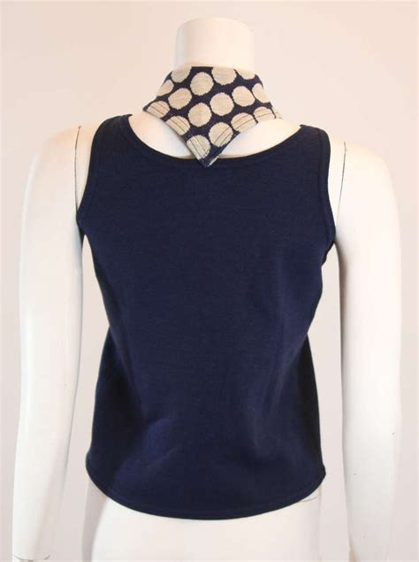 knitted blouse for sale rudi gernreich stretch knit blouse with attached scarf
