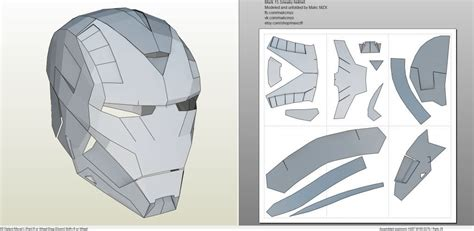iron man suit template papercraft pdo file template for iron 15