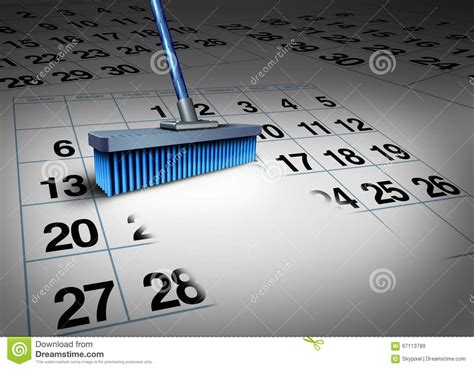 clear  schedule stock illustration image