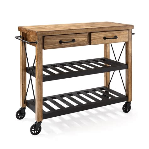 crosley furniture kitchen cart roots rack industrial kitchen cart crosley