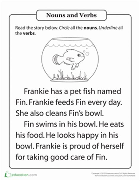 parts of speech practice hal and the fish teaching
