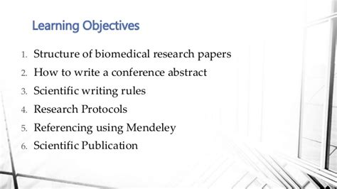 biomedical research papers how to write a biomedical research paper