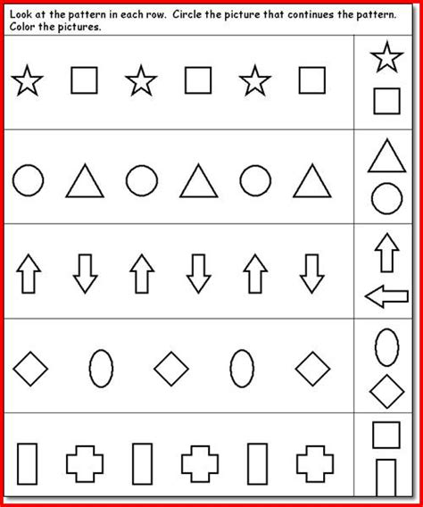 free pattern games online free worksheets 187 pattern kindergarten free math