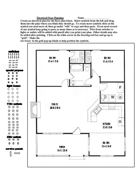 electrical floor plan floor planning best free online room planner tools