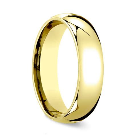 14k Yellow Gold Mens 6mm Comfort Fit Wedding Band comfort fit s wedding ring in yellow gold 6mm