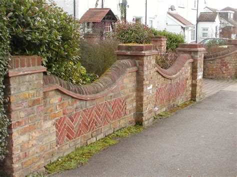 Brick Boundary Wall With Grill Google Search Boundary Wall Garden Designs