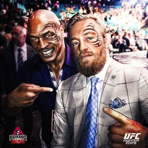 conor mcgregor tattoo fan fan art of mike tyson and conor mcgregor w face tattoos