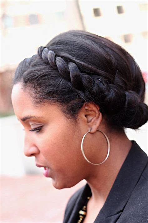 french roll bun w stuffing on fine natural hair easy 17 best images about coiffures pour cheveux d 233 fris 233 s