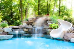 How To Build A Backyard Office Water Features Traditional Pool New York By Thomas