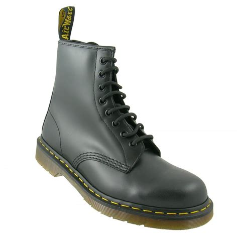 dr martens black 1460 8 eyelet leather unisex boot