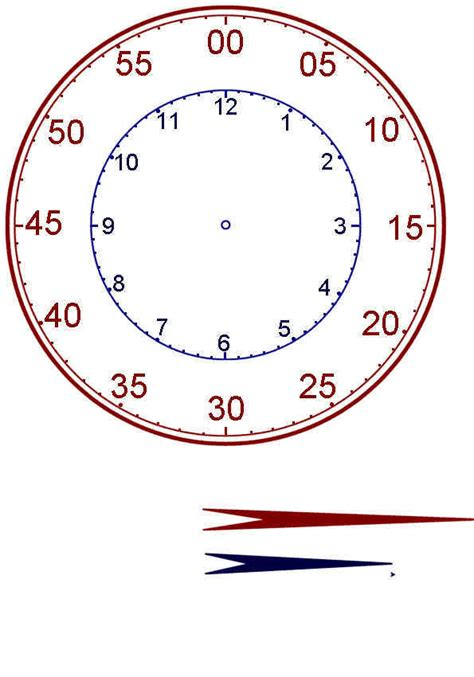 clock templates for telling time teaching children to tell time printable clock