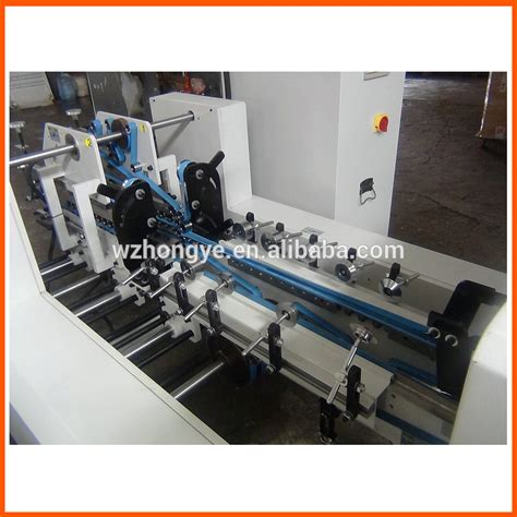 paper box folding and gluing machine buy box folding and