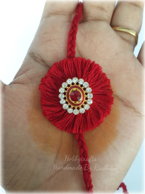 How To Make Handmade Rakhi At Home - hobby crafts handmade rakhi