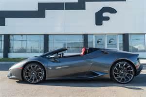 Lamborghini With Rims Lamborghini Huracan Spyder By Forgiato Wheels