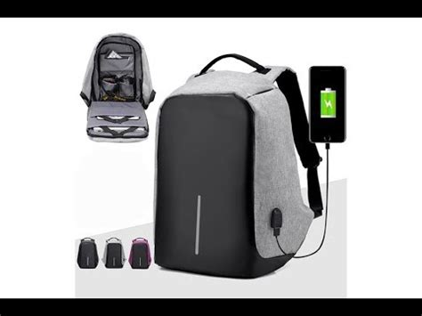 Mairu 0219 Smart Backpack Usb Port Charger Free Powerbank Grey anti theft backpack waterproof travel bag with usb charging port