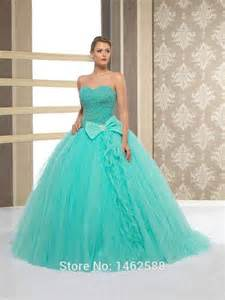 turquoise wedding dresses unique pearl beaded sweetheart bow decoration turquoise